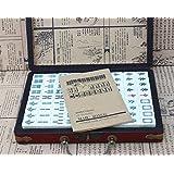 LI JING SHOP - Petit Mini Mahjong Carreaux Tourisme Dortoir Chambre Main Rub Mahjong ( Couleur : 2.2*1.5*1.2CM )