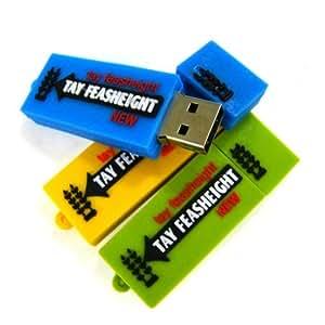 Chewing Gum - 4 Go-USB pour XP/Vista/Windows 7/Mac 16 Go (Bleu)