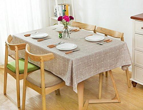 90130 cm Marronee Checker scandinavo moderno minimalista Instagram Garden picnic picnic picnic rettangolare da pranzo tovaglia in cotone lino quadrato eco-friendly copre B076D59746 Parent | Il materiale di altissima qualità  | Lascia che i nostri prodotti vadano nel m 1dd349
