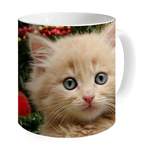 okoikiu Little Cat Mug Tea Tazza di latte 11 oz - -personalized regalo per compleanno, Natale e Anno Nuovo