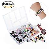 WINOMO 450st Alphabet Beads DIY Armband Schmuck für Kinder DIY Halskette basteln Perlen