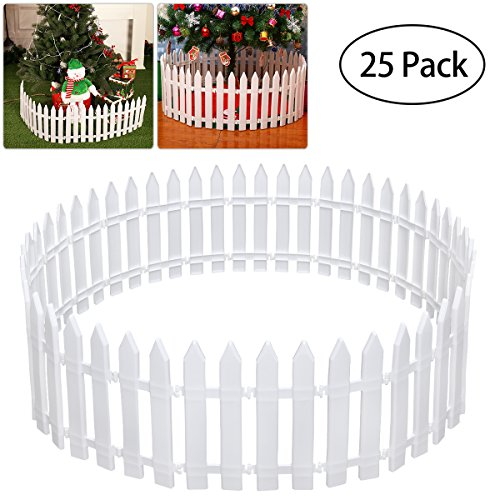 Tinksky Plastic Picket Fence for...