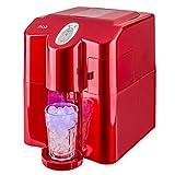 MOA Eiswürfelmaschine Eiswürfelspender, FCKW freier Hochleistungskompressor, rot