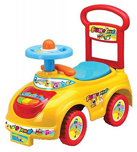 *Rutschauto in 9 verschiedenen Modellen – Ein guter und preiswerter Aufsitzwagen Rutschwagen Lauflernwagen Kinderfahrzeug , Modell:Yellow Piano*