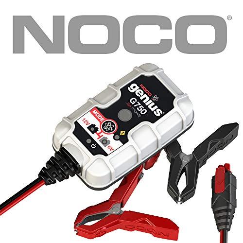 NOCO Genius G750EU 6V / 12V .75 Amp Cargador de batería inteligente y mantenedor para auto, moto y más