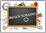 Einladungskarten zur Einschulung Schulanfang Schule Einladung Karten Schulkind 10 Stück Endlich Schulkind Mädchen schuleinführung junge mädchen