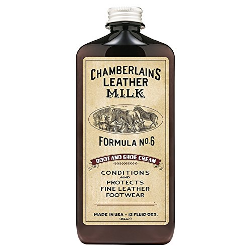 Chamberlain's Leather Milk - Boot & Shoe Cream Nr. 6 - Conditioner/Reiniger für Lederstiefel & -schuhe - Naturbasis/ungiftig - 1 Auftragepad - Hergestellt in den USA - 2 Größen - 0.35 L (1 Haut-conditioner)