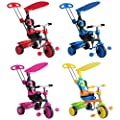 Trikestar Children's Trike With Canopy & Safety Guard 4 in 1- Red,Blue,Pink,Multicoloured Available