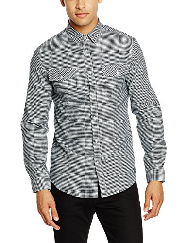 SHINE Original Herren Freizeithemd Checked Shirt L/S Blau (navy Navy)