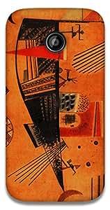 The Racoon Lean Capricious - Kandinsky hard plastic printed back case / cover for Motorola Moto E2