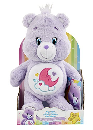 vivid-imaginations-care-bears-sweet-dreams-bear-plush-toy-with-dvd-multi-colour