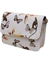 9a2efbdf14 Minetom Donna Borsa A Tracolla Fiore Farfalle Stampa Fondo Con Clamshell  Forma Buon Regalo Per Viaggio