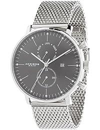 Akribos AK685SSB - Reloj de cuarzo para hombres, color plata