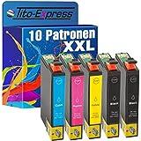 10x Tito-Express PlatinumSerie Tintenpatrone XXL TE2701 TE2702 TE2703 TE2704 kompatibel zu Epson