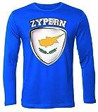 Zypern Fanshirt 4711 Herren Longsleeve (HL-B) Gr. XXL