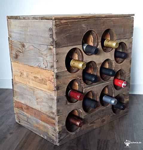 """""""Wein-Bar"""" - Weinregal aus alten Weinkisten"""
