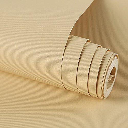 Zhzhco Einfache Vliesstoff Einfarbig Plain Wallpaper Moderne Schlafzimmer Wohnzimmer Esszimmer Wallpaper (0,53 M * 10 M)