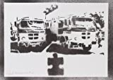 moreno-mata Lastkraftwagen Handmade Street Art - Artwork - Poster