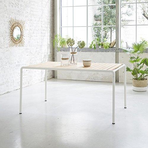 Table de Jardin en Bois d'acacia FSC métal 4 Couverts