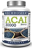 ACAI Mirtillo 30000 - Ultra-high-dose (50 Day - Spa) - Brasiliano Acai Berry Estratto (150 Pastiglie)