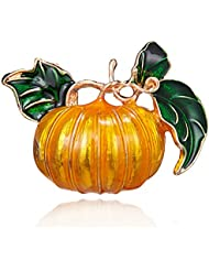 KUNQ Regalo Pareja/Regalo Navidad/Nuevas Joyas Calabaza De Halloween Broche Planta El Otoño Y El Invierno Ropa Accesorios Colgantes