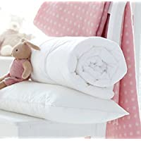 Egypto Anti-Allergy Cot Bed Duvet - Comforter with Pillow Set - Available in 4.5, 7.5 & 9 TOG (120 x 150 cm, 7.5 TOG)