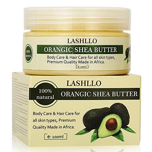 Sheabutter Körperbutter, Sheabutter Creme, Body Butter für Schönheit/Massage / Wellness/Kosmetik / Körperpflege für Männer und Frauen, 100ml