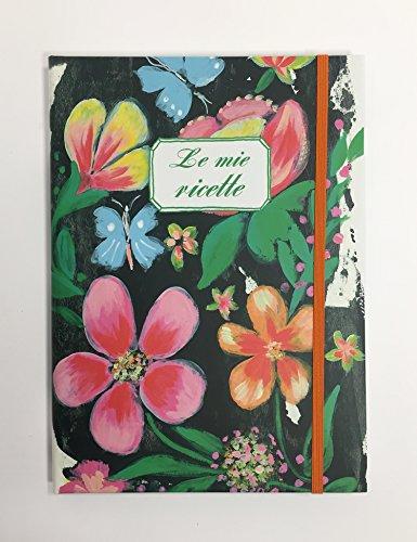 Paper-o Ricettario A5'fiori' con rubricatura - RIA510