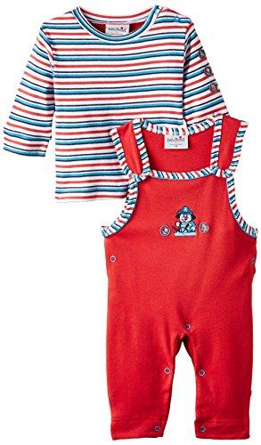 """Julius Hüpeden Unisex - Baby Latzhosen """"Pirat"""" im Set mit Oberteil, Gr. 68 (Herstellergröße: 68), Mehrfarbig (rot/malibu blue 730405)"""