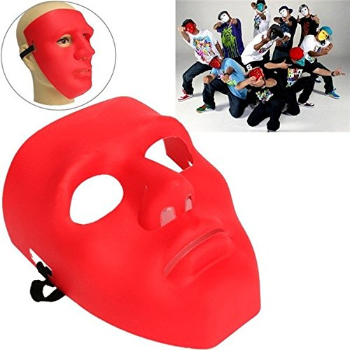 Theater Kostüm Masquerade - mark8shop Scary Face Halloween Masquerade B-Boy Mime Maske Ball Party Kostüm Theater