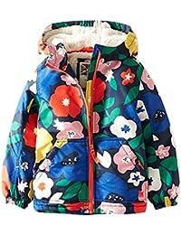LSERVER-Chaqueta Caliente de Invierno para Niñas Abrigo de Cachemira con Capucha