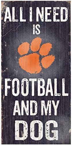 NCAA Offizielles National Collegiate Athletic Association Fan Shop authentische Holzschilder - Stake Your Areory, Ideal für Hundeliebhaber, Clemson - Football and Dog