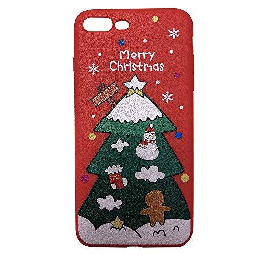 Fcostume Frohe Weihnachten Telefon Fall Weihnachten TPU Ultra Thin Cover für iPhone 7 Plus / 8 Plus 5,5 Zoll (B) (Iphone 4 Weihnachts-fall)