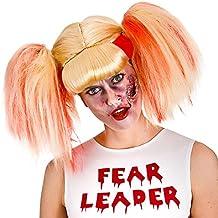 Las señoras del zombi de la animadora de la peluca del vestido de lujo de Halloween