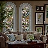 TT&CC ,Anti-UV privatsphäre Heat Control Abnehmbare Dekoration ohne klebstoff Fenster Film Fenster Aufkleber Statische Fenster Frischhaltefolie-A 92x100cm(36x39inch)