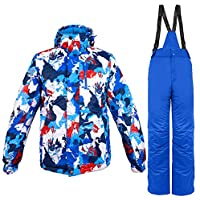 Gski Herrn Skijacken & Hosen Windundurchlässig, Wasserdicht, Warm Skifahren/Winter Sport Poly Kleidungs-Sets Skikleidung