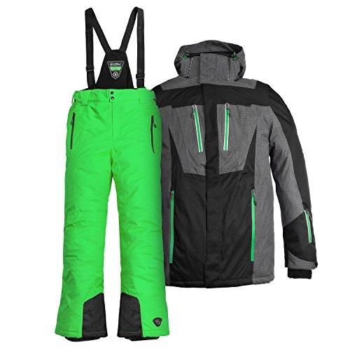 Killtec Herren Skianzug Farb- und Größenwahl (schwarz/grün, L)