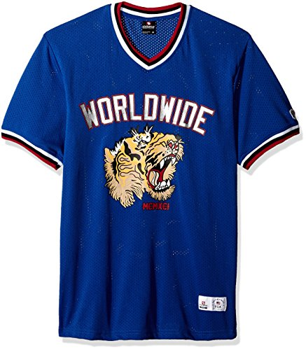 Southpole Herren Short Sleeve Athletic Mesh Jersey T-Shirt, Royal Tiger, X-Groß - Tiger Athletic T-shirt
