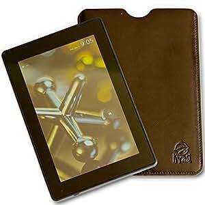 Kyasi Authentic TouchHide Tote Amazon Kindle Paper White Custodia Pelle Sintetica Premium Stile Sacchetto Marrone Sella