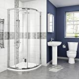 800 x 800 mm Modern Quadrant Sliding Door Shower Enclosure with Tray + Free Waste