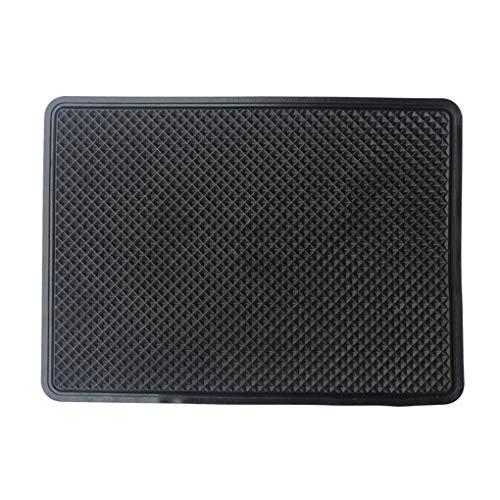 Pegcdu Auto-Innen Schwarze Silikon-Anti-Rutsch-Armaturenbrett-klebrige Auflage Nicht-Gleitstein Handy Münze Sonnenbrillen Stehen