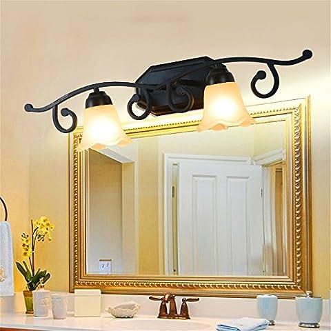Larsure Vintage style industriel Lampe de Mur Mur lumière lampe applique murale lampe murale chambre coiffeuse miroir lampe lampe avant toilettes cuisine créative de fer du corridor, 710mm