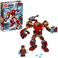 LEGO Super Heroes Avengers, Iron Man Mech, Set di Costruzioni Ricco di Dettagli per Bambini 6+ Anni, le Braccia e le...