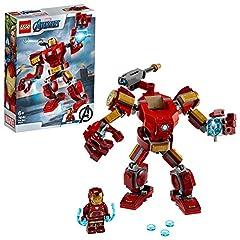 Idea Regalo - LEGO Super Heroes Avengers, Iron Man Mech, Set di Costruzioni Ricco di Dettagli per Bambini 6+ Anni, le Braccia e le Gambe Articolate Consentono una Mobilità a 360 Gradi, 76140