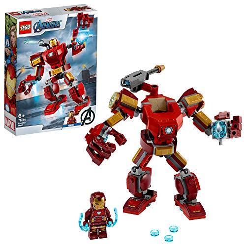 LEGO76140SuperHeroesMarvelAvengersIronManMechPlayset,BattleActionFigureforKids6+YearOld