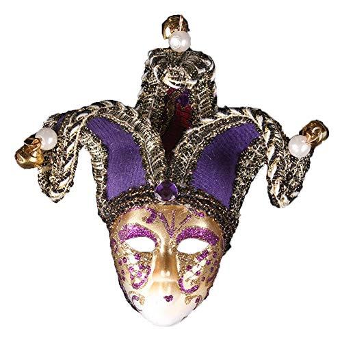 TINGTING Herren Maskerade Maske Vintage Geknackt Venezianischen Halloween Mardi Gras Party Maske,4
