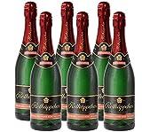 Rotkäppchen Sekt Flaschengärung Spätburgunder Rosé trocken 6 x 0,75l - Premiumsekt deutscher Weine - für besondere Momente/Weihnachten/ Geburtstage/ zum Anstoßen/ als Mitbringsel