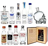 Vodka Mini Set Probierset 11er Set - Grey Goose + Absolut + Beluga + Belvedere + Crystal Head + Legend of Kremlin + Mama Vodka + Organic + Smirnoff (37,5% Vol) + Three Sixty + Titos je 5cl (40% Vol) -[Enthält Sulfite]