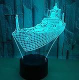 SHJDY Incrociatore-Piccola Luce Notturna,Luce Di Sonno 3D,Flash Led,Telecomando,Alimentatore Usb,Adatto Per La Decorazione Della Stanza,Regalo Per Bambini
