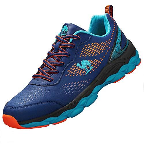 CAMEL Scarpe da Ginnastica Uomo Sportive Corsa Trail Running Sneakers Fitness Casual Basse Trekking Shoes (43 EU, Blue)